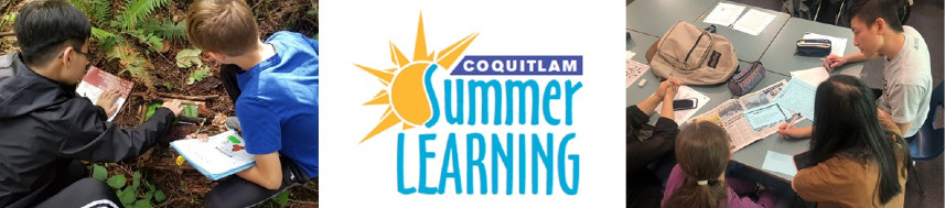 Images Students in Summer Learning Coquitlam and the Summer Learning Coquitlam Logo